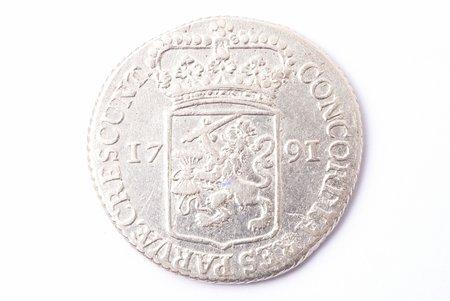 1 талер, 1791 г., серебро, Нидерланды, 27.83 г, Ø 40 мм, VF
