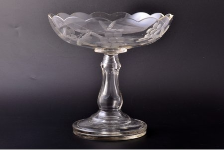 fruit dish, Russia, the beginning of the 20th cent., Ø 22.9 cm, h 21.9 cm