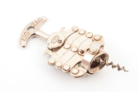 corkscrew, ZIG ZAG, metal, France, 15.5 cm, weight 195.60 g