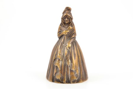 bell, in the shape of a woman, bronze, 10 cm, weight 315.65 g.