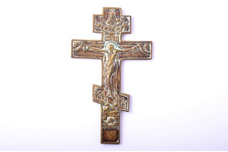 cross, The Crucifixion of Christ, copper alloy, Russia, the 2nd half of the 19th cent., 11.3 x 6.6 x 0.3 cm, 68.25 g.