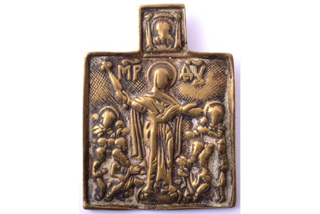 icon, Mother of God Joy of All Who Sorrow, copper alloy, Russia, the 18th cent., 6.4 x 4.8 x 0.3 cm, 32.80 g.