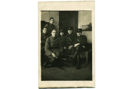 photography, Latvian army, soldiers in the barracks, Latvia, 20-30ties of 20th cent., 14x9 cm