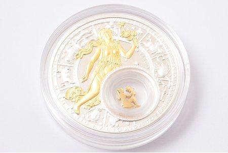 """20 rubles, 2013, Astrological signs, """"Virgo"""", silver, Belarus, 26,158 g, Ø 41 mm, Proof"""