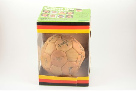 Ball with German Football Team's autographs, Germany, 1978, girth 60 cm, in a box