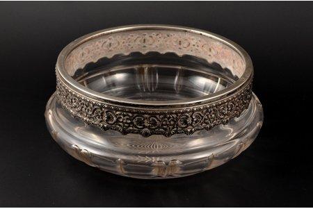 candy-bowl, silver, 950 standart, France, Ø 19, h 8.1 cm
