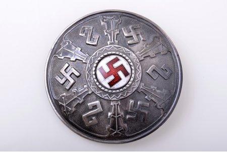 sakta, with fire cross, silver, enamel, 875 standart, 19.75 g., the item's dimensions Ø 6.6 cm, the 20ties of 20th cent., by Wilhelm Heinrich Glasenapp, Latvia