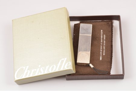 Flash card 1 GB, with fingerprint, Christofle, 950 standart, 43.9 g, France, 7.9 x 2 cm, in a case