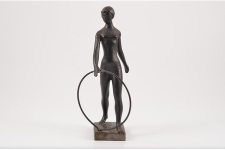 figurine, Gymnast, The 1980 Summer Olympics, cast iron, h 19.1 cm, weight 589.5 g., USSR, Kasli, 1981