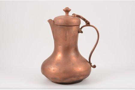kafijas kanna, E. Ļubimovs, varš, h 18 cm, nav hermētisks, ar deformāciju