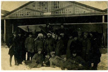 фотография, советские авиаторы, СССР, начало 20-го века, 14x9 см