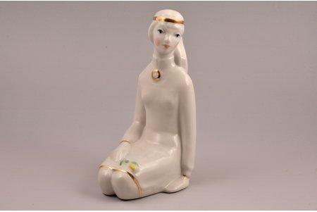 figurine, Lelde, porcelain, Riga (Latvia), USSR, Riga porcelain factory, molder - Aina Mellupe, the 70-80ies of 20th cent., 18.8 cm