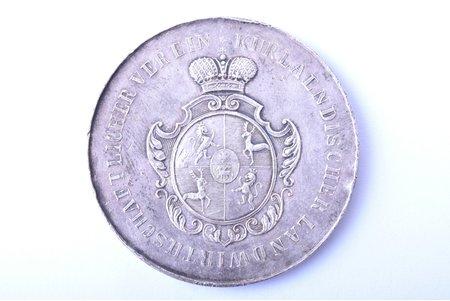 table medal, Agricultural society of Kurzeme (Kurlaendischer landwirtschaftlicher verein), silver, Latvia, Russia, 1905, Ø 43.6 mm, 29.65 g