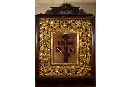 icon case, guilding, wood, Russia, 96 x 70 x 20 cm