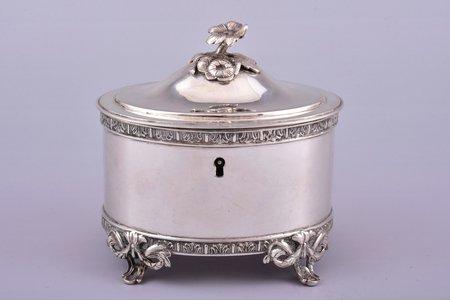 case, silver, 830 standart, 1917, 412.60 g, Sweden, h 12 cm, 12.2 x 9.8 cm