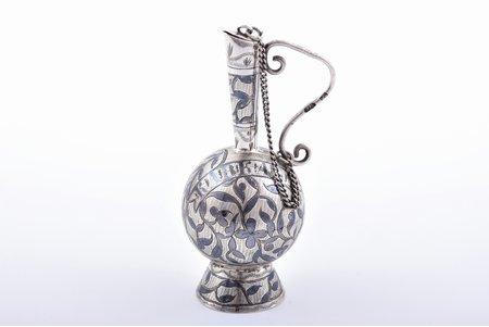 """maza izmēra krūka, sudrabs, """"Kaukāzs"""", 84 prove, melnināšana, 1886-1896 g., 25.47 g, Vladikaukāza (Ordžonikidze), Krievijas impērija, h 7.7 cm"""