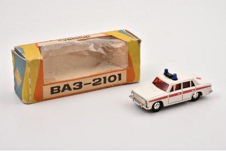 "car model, VAZ 2101, ""Ambulance"", 1/60, metal, USSR"