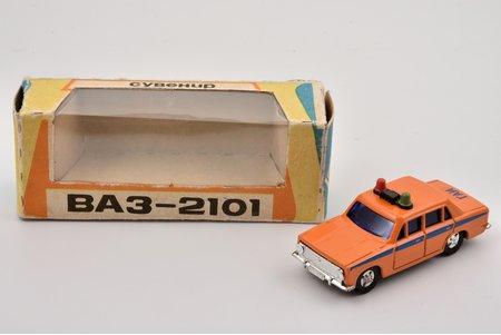 """car model, VAZ 2101, """"Militia"""", 1/60, metal, USSR"""