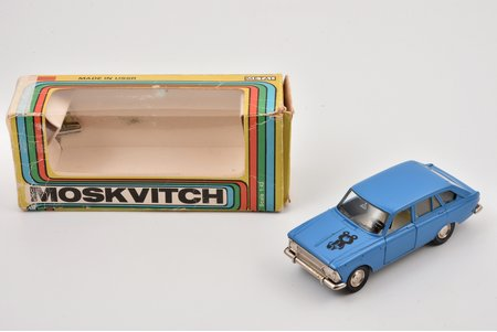 "car model, Moskvitch IZH-1500-Hatchback Nr. A12, ""1980 Olympic games bear"", metal, USSR, 1978-1980"