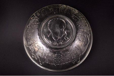 augļu trauks, A.S. Puškina nāves simtgades atceres diena, 1837-1937, PSRS, 20 gs. 30-40tie gadi, Ø 24.3 cm