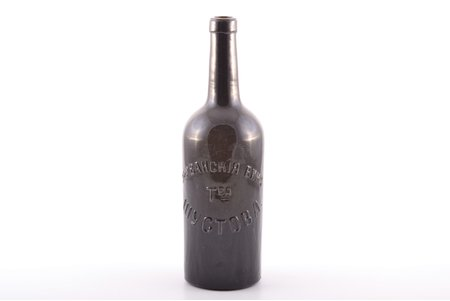 "bottle, ""Erivan wines. Shustov Partnership"", Russia, the border of the 19th and the 20th centuries, h 27.2 cm"