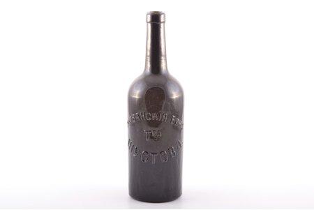 """pudele, """"Erivānas vīni. Šustova sabiedrība"""", Krievijas impērija, 19. un 20. gadsimtu robeža, h 27.2 cm"""