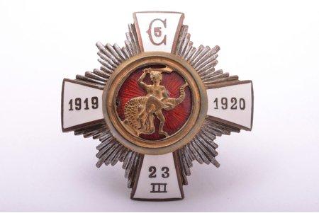 знак, 5-й Цесисский пехотный полк, Латвия, 20е-30е годы 20го века, 46.5 x 46.9 мм