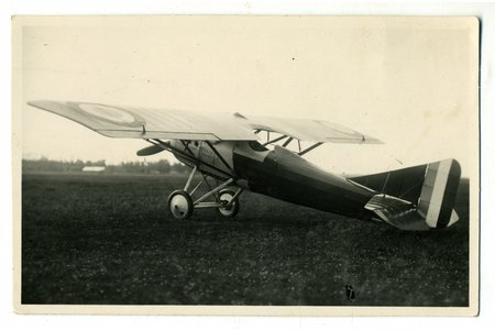 photography, Riga, military aircraft, Spilve Airport, Latvia, 20-30ties of 20th cent., 13,4x8,6 cm