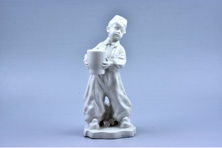 "figurine, Candlestick ""Turk"", porcelain, Riga (Latvia), USSR, sculpture's work, molder - Aldona Elfrida Pole-Abolina, the 50ies of 20th cent., 22 cm"