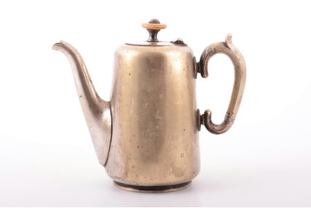 small teapot, Alexander Katch, silver plated, Russia, the border of the 19th and the 20th centuries, h 14 cm