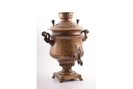 "samovar, Vorontsov Brothers, Tula, shape ""halfvase smooth"", Russia, 42.7 cm, weight 5650 g"