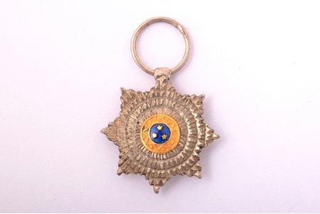 miniature badge, star of the Order of Three Stars, 2nd class, Latvia, 14.1 x 13.3 mm