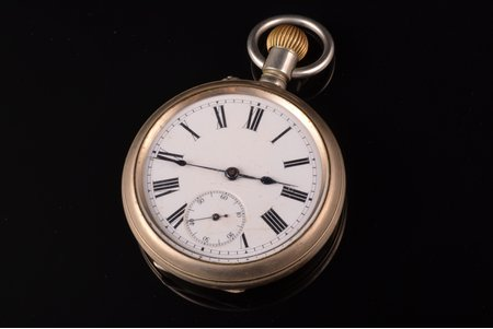 "pocket watch, ""Павелъ Буре (Pavel Buhre)"", Russia, metal, 152.15 g, 7.5 x 5.7 cm, 57 mm"