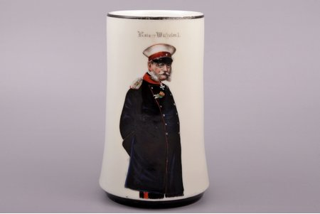 beer mug, William I, porcelain, Germany, 15.6 cm, defect on the edge