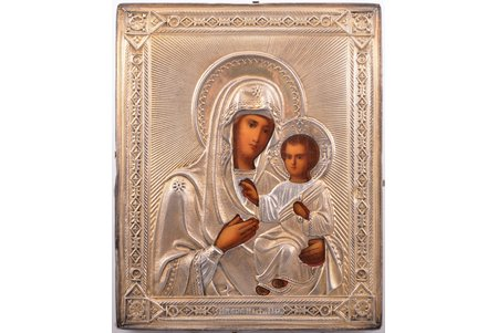 icon, the Iveron Mother of God, board, silver, painting, 84 standart, Russia, 1896-1907, 11.3 x 9.2 x 1.6 cm