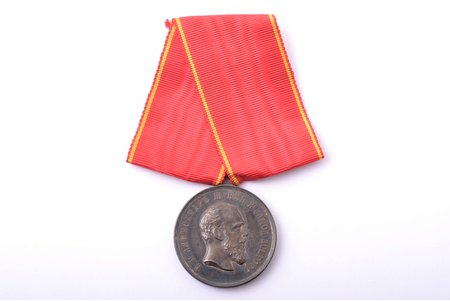 medal, For diligence, Alexander III, Russia, the end of 19th century, 34.3 x 29.5 mm