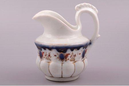 krējumtrauks, porcelāns, M.S. Kuzņecova rūpnīca, Krievijas impērija, h 12.8 cm