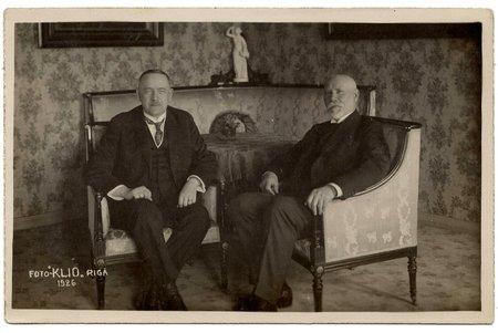 photography, President of Latvia J. Čakste and President of Finland L.K. Relander, Latvia, 1926, 8.9 x 13.8 cm