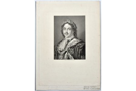 Anderloni Pietro (1785-1849), Portrait of Emperor Peter the Great, ~1820, paper, steel engraving, 17.8 x 12.8 cm
