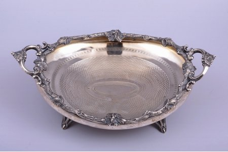 biscuit tray, silver, 84 ПТ standart, engraving, 551.10 g, 33.1 x 21 cm