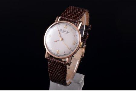 "wristwatch, ""Paul Buhre"", Switzerland, gold, 585, 14 K standart, 4.1 x 3.6 cm, 34 mm, working well"