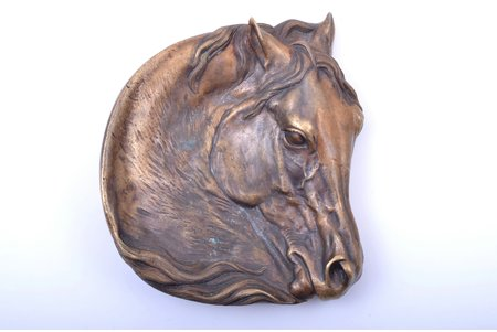 "ashtray, ""Horse head"", model by E. Lansere, bronze, 14 x 12.3 x 3 cm, weight 604.75 g., Russia, K.F.Verfel"