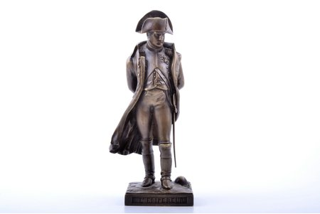 figurine, Napoleon Bonaparte, model by K. Berto, bronze, h 22.7 cm, weight 1547.5 g., Russia, the border of the 19th and the 20th centuries