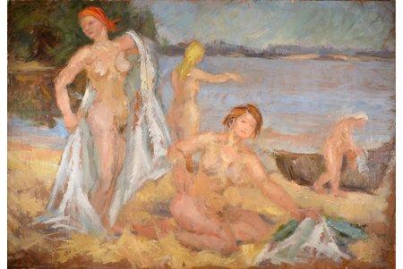 "Романе Эрика (1920-2002), ""Купальщицы"", ~1950 г., холст, масло, 71 x 103 см"