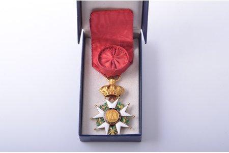 National Order of the Legion of Honour, officier's, gold, enamel, 18 k standart, France, 1848-1870, 61.2 x 41 mm, 19.26 g, hairline cracks of enamel