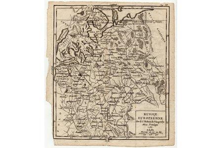 map, European Russia (Russie Europeenne), 18 x 15.5 cm