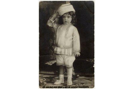 photography, Tsesarevich Alexei Nikolaevich, Russia, beginning of 20th cent., 13.8 x 8.7 cm
