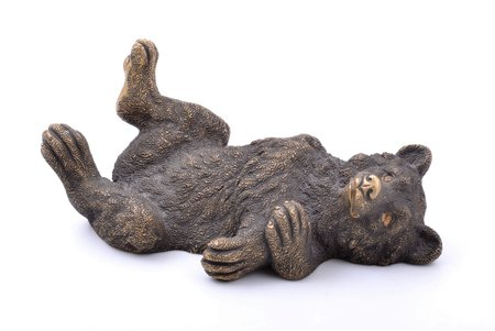 "press paper, ""Bear"", by motives of N. Liberikh, 14.3 x 6.9 x 5.6 cm, weight 850.45 g., Russia, the 19th cent."