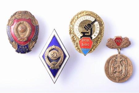 set of 4 badges, militsiya, USSR