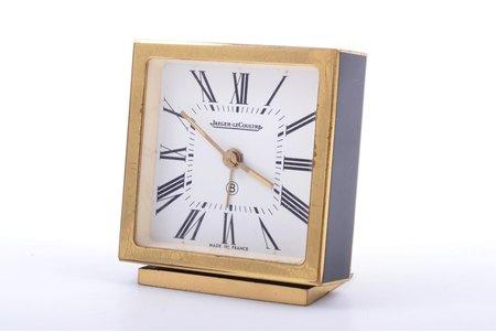"galda pulkstenis, ""Jaeger-LeCoultre"", Francija, 223.70 g, 6.6 x 6 cm, darbojas labi"